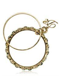 DSquared² - Green Swarovski Brass Double Bangle Bracelet - Lyst