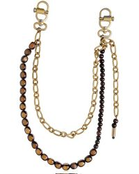DSquared² - Metallic Beaded Metal Pocket Chain for Men - Lyst