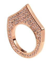 Eddie Borgo - Metallic Pave Small Flat Triangle Ring Rose Size 7 - Lyst