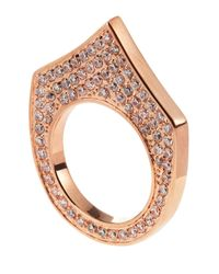 Eddie Borgo | Metallic Pave Small Flat Triangle Ring Rose Size 7 | Lyst