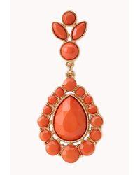 Forever 21 - Red Iconic Faux Stone Teardrop Earrings - Lyst
