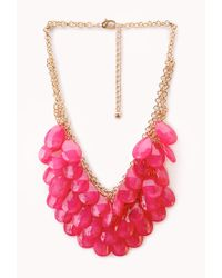 Forever 21 - Metallic Ombré Teardrop Necklace - Lyst