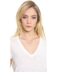 Jacquie Aiche - Pink Full Pave 5 Pyramid Triangle Necklace - Lyst