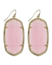Kendra Scott - Goldplated Danielle Earrings Pink - Lyst