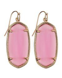 Kendra Scott - Rhodium Danielle Earrings Pink - Lyst