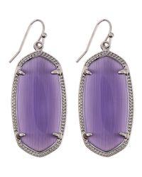 Kendra Scott - Rhodium Elle Earrings Purple - Lyst