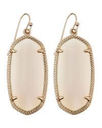Kendra Scott | Pink Goldplated Elle Earrings White | Lyst