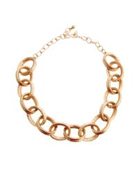 Kenneth Jay Lane - Metallic Chunky Chain Link Necklace - Lyst