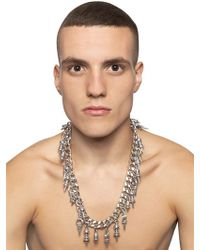 KTZ - Metallic Chain Necklace with Spike Pendants for Men - Lyst