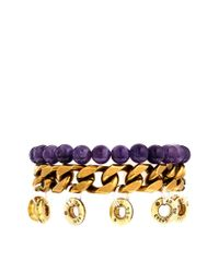 Love Bullets | Purple Lovebullets Bullet End Bracelet | Lyst