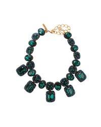 Oscar de la Renta | Blue Goldplated Resin Necklace | Lyst