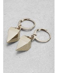 & Other Stories - Metallic Short Pendant Earrings - Lyst