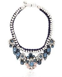 Shourouk - Blue Gilda Necklace - Lyst