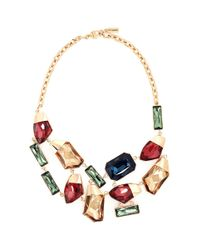 St. John - Multicolor Faceted Swarovski Crystal Necklace - Lyst