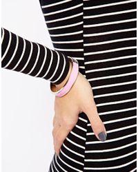 Tokyo Jane - Pink Flat Porcelain Bracelet - Lyst