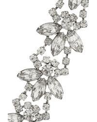 Tom Binns - Metallic Madame Dumont Rhodiumplated Swarovski Crystal Bracelet - Lyst