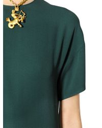 Valentino - Green Short Sleeved Silk Jumpsuit - Lyst