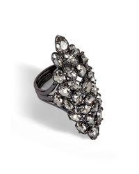 Alexis Bittar | Gray Pavo Nova Metallic Crystal Marquis Ring | Lyst