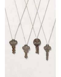 Anthropologie - Metallic Dainty Giving Key Necklace - Lyst