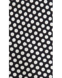 Burberry - Black Dotted Silk Jacquard Skinny Tie for Men - Lyst