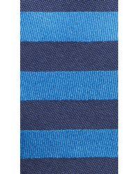 Burberry - Blue Horizontal Stripe Silk Tie for Men - Lyst