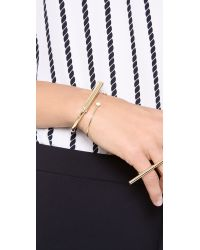 Cheap Monday - Metallic Painted Bracelet - Lyst