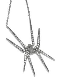 Diane Kordas - Metallic Spider 18karat Blackened Gold Diamond Necklace - Lyst