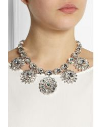 Dolce & Gabbana - Metallic Natale Palladiumplated Swarovski Crystal Necklace - Lyst