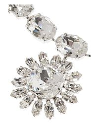 Dolce & Gabbana - Metallic Natale Palladiumplated Swarovski Crystal Necklace - Lyst