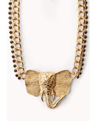 Forever 21 - Metallic Standout Elephant Necklace - Lyst