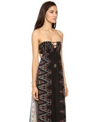 Indah - Black Flamingo Bandeau Maxi Dress - Lyst