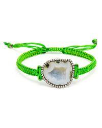 Kimberly Mcdonald - Green White Geode and Macramé Bracelet - Lyst