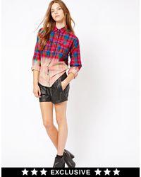 Esprit - Black Leather Look Short - Lyst