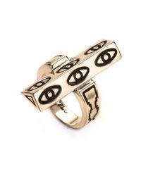 Pamela Love | Metallic Six Eye Ring in Brass | Lyst