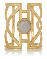 Pamela Love - Metallic Pathway Goldtone Moonstone Cuff - Lyst