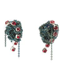 Arielle De Pinto | Metallic Crochet Earrings | Lyst