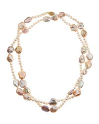 Belpearl | Pink Freshwater Baroque Pearl Rope Necklace | Lyst