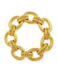 Elizabeth Locke | Metallic Ischia 19K Gold Large Link Bracelet | Lyst