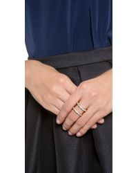 Gorjana | Metallic Lena Shimmer Double Bar Ring | Lyst