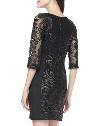 Greylin - Black Trixie Embroidered Shift Dress - Lyst