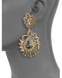 Judith Leiber - Metallic Lulu Crystal Cluster Earrings - Lyst
