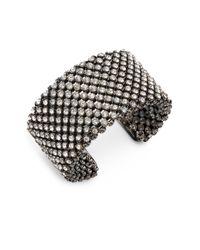 Saks Fifth Avenue - Metallic Sparkle Mesh Cuff Bracelet - Lyst