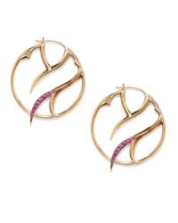 Stephen Webster - Red Ruby Pavã Thorn Hoop Earrings125 Inches - Lyst