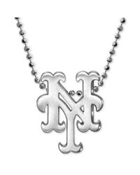 Alex Woo - Metallic Mlb Collection By Sterling Silver New York Mets Pendant Necklace - Lyst