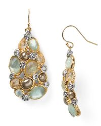 Alexis Bittar | Metallic Kiwi Cluster Teardrop Earrings | Lyst