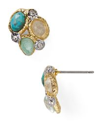 Alexis Bittar | Metallic Small Kiwi Cluster Stud Earrings | Lyst