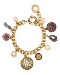 Carolee - Brown Eyed Girl Charm Bracelet - Lyst