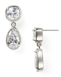 Carolee - Metallic Uptown Girls Double Drop Earrings - Lyst