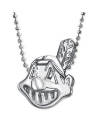 Alex Woo | Metallic Mlb Collection By Sterling Silver Cleveland Indians Pendant Necklace | Lyst
