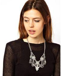 ASOS - Metallic Indian Tassel Necklace - Lyst